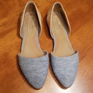 Toms Jutti d'orsay pointed toe flats